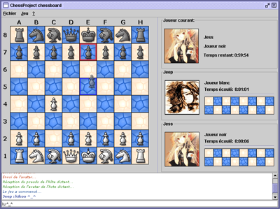 A screenshot of ChessProject